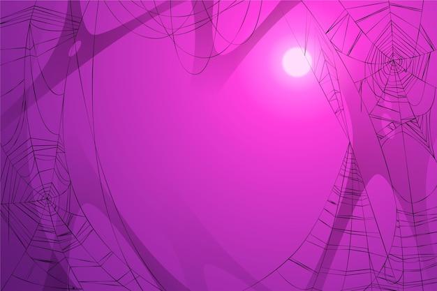 Halloween spinnenweb wallpaper thema Gratis Vector