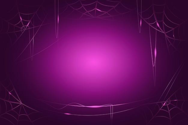 Halloween spinnenweb wallpaper Gratis Vector