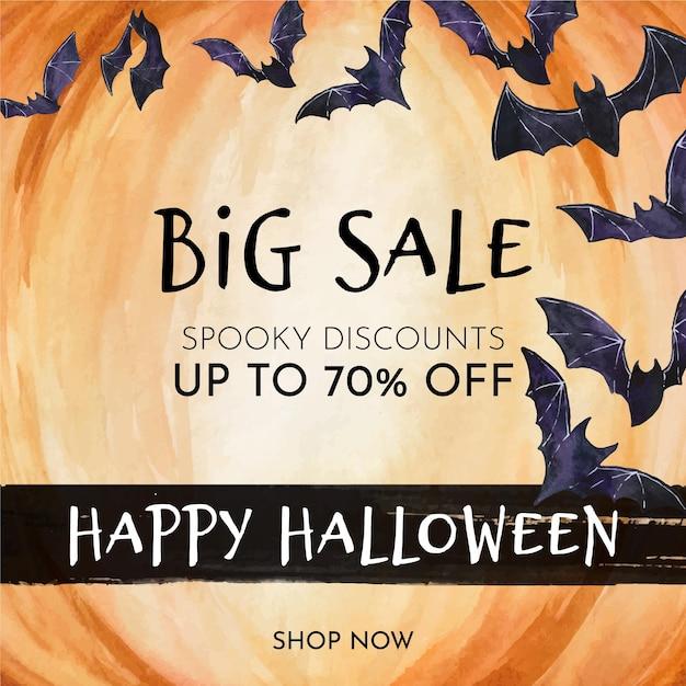 Halloween verkoop concept thema Premium Vector