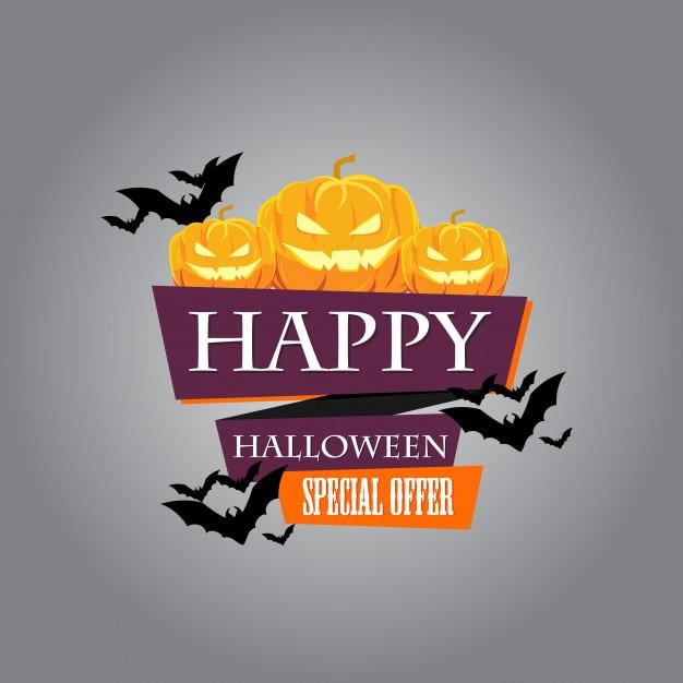Halloween-verkoop en kortingsbanner voor promo Premium Vector