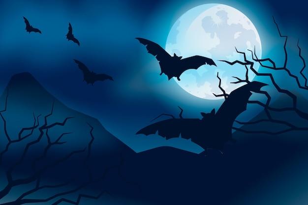 Halloween wallpaper thema Premium Vector