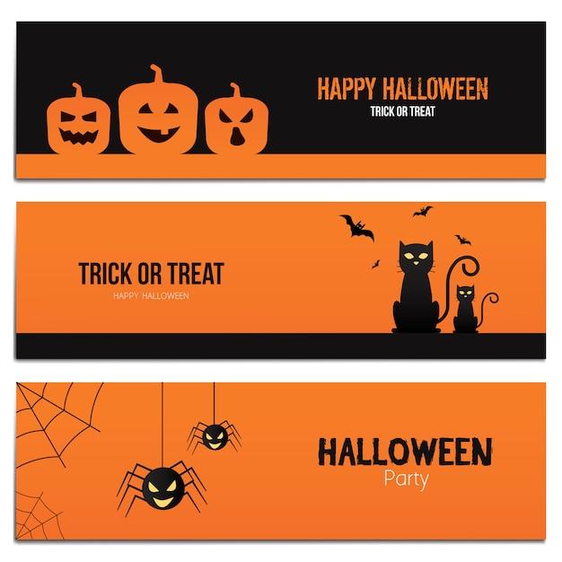 Hallowen banners Premium Vector