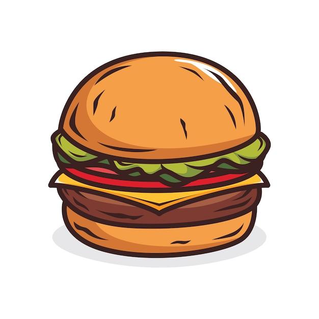 Hamburger illustratie Premium Vector