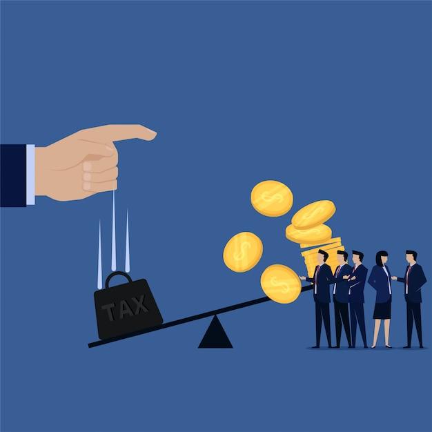 Hand drop zware belasting gewicht om in evenwicht te brengen en munten Premium Vector