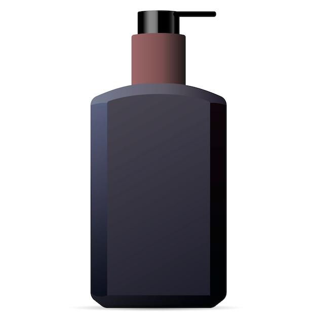 Hand en lichaam wassen mannen cosmetica fles mockup. Premium Vector