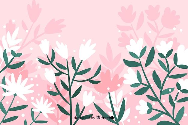 Hand getekend abstract floral achtergrond Gratis Vector
