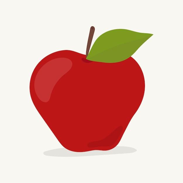 Hand getekend apple fruit illustratie Gratis Vector