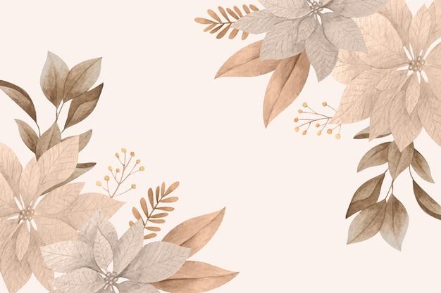 Hand getekend florale achtergrond Gratis Vector