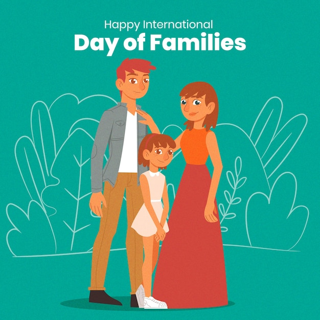 Hand getekend internationale dag van gezinnen concept Gratis Vector