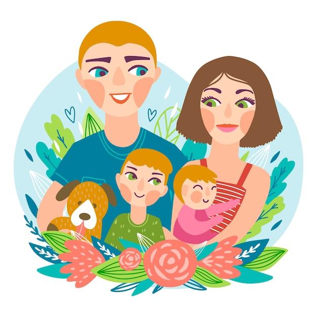 Hand getekend internationale dag van gezinnen Gratis Vector