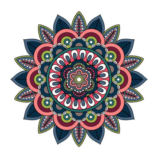 Hand getekend mandala met de islam Premium Vector