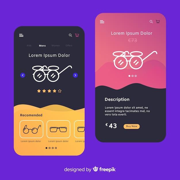 Hand getekend mobiel app-concept Gratis Vector