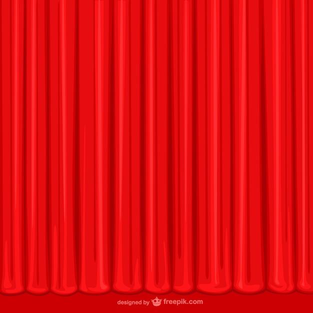 Hand getekend rood gordijn Vector | Gratis Download