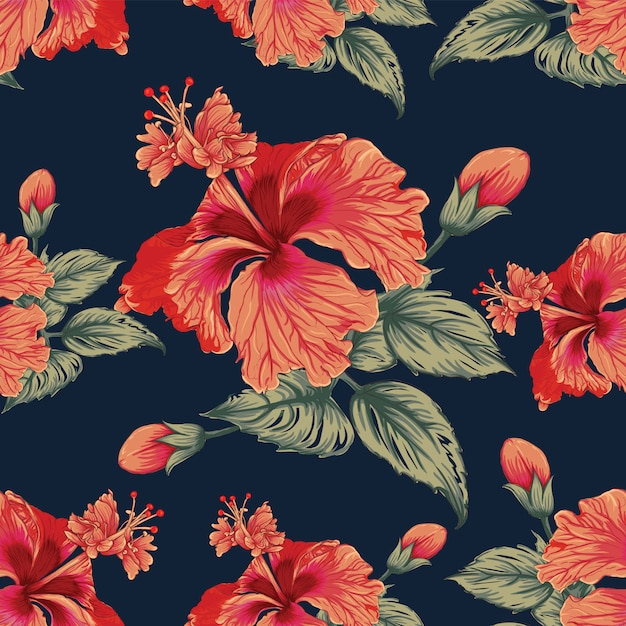 Hand getekend vintage floral achtergrond Premium Vector