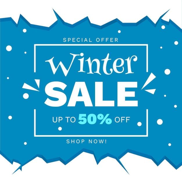 Hand getekend winter verkoop korting Gratis Vector