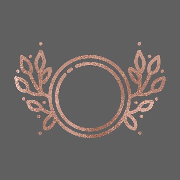 Hand getekende rose goud frame Premium Vector