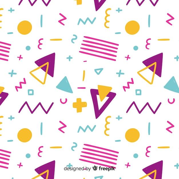 Hand getrokken abstracte geometrische achtergrond Gratis Vector