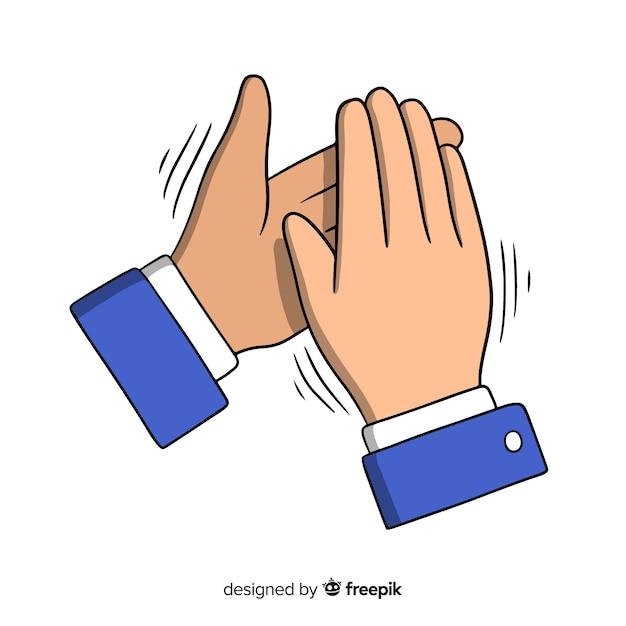 Hand getrokken applaus Gratis Vector