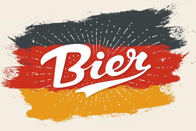 Hand getrokken belettering bier Premium Vector