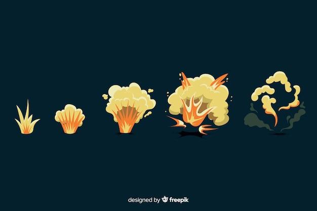 Hand getrokken cartoon explosie effect collectie Gratis Vector
