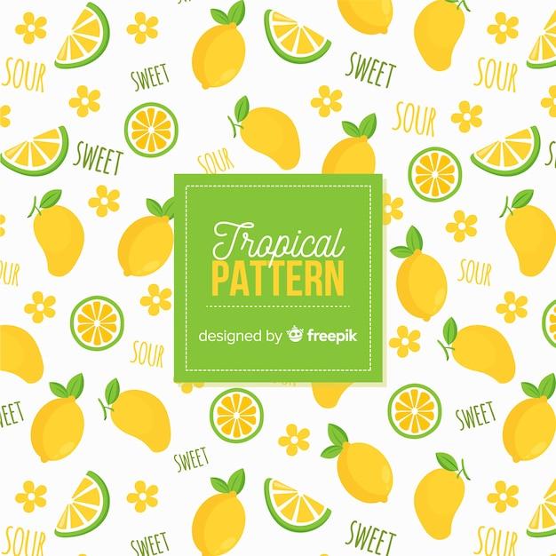 Hand getrokken citroenen patroon Gratis Vector