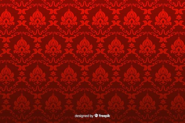 Hand getrokken decoratieve damastachtergrond Gratis Vector