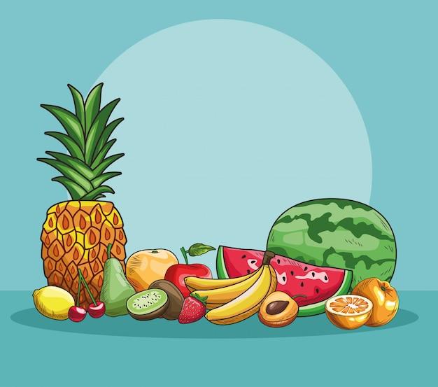 Hand getrokken fruit Premium Vector
