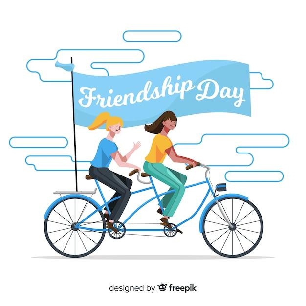 Hand getrokken gelukkige vriendschapsdag Gratis Vector