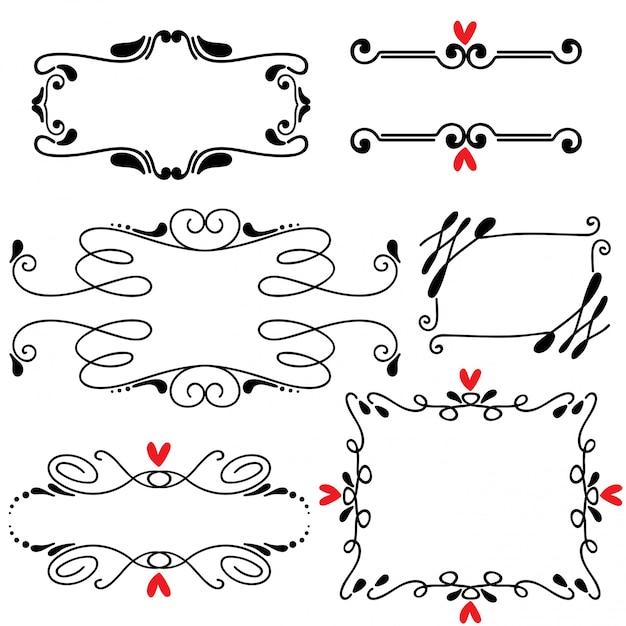 Hand getrokken geschetst lijn kunst vectorillustratie van de grenshuwelijk Premium Vector