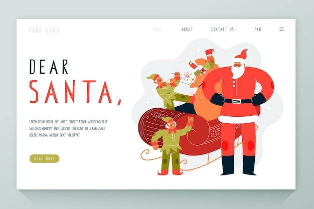 Hand getrokken kerst bestemmingspagina Gratis Vector