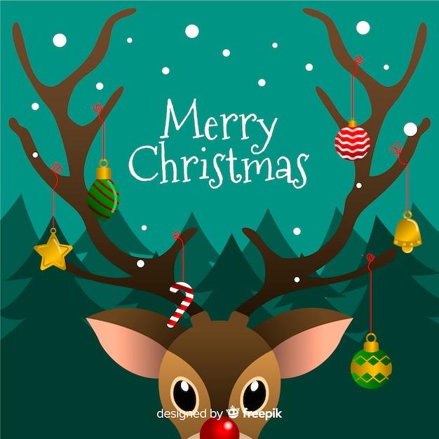 Hand getrokken kerstdecoratie Gratis Vector
