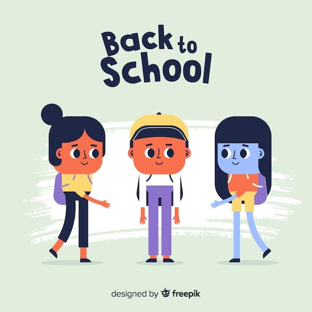 Hand getrokken kinderen terug naar school Gratis Vector