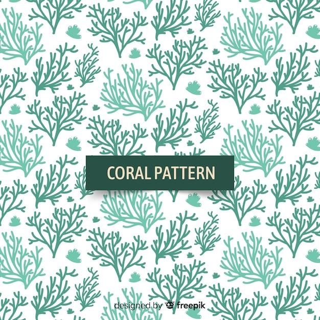 Hand getrokken koraal achtergrond Gratis Vector