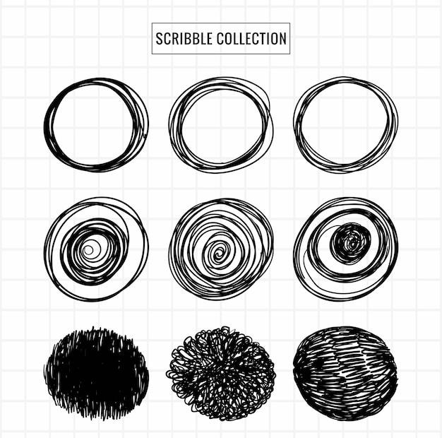 Hand getrokken krabbel collectie schets decorontwerp Gratis Vector