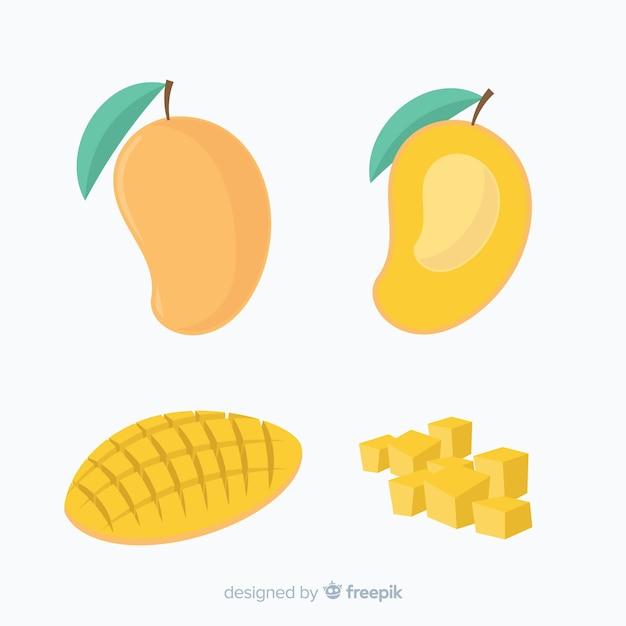 Hand getrokken mango achtergrond Gratis Vector