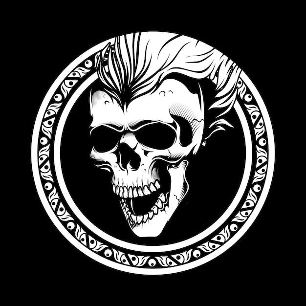 Hand getrokken schedel Premium Vector