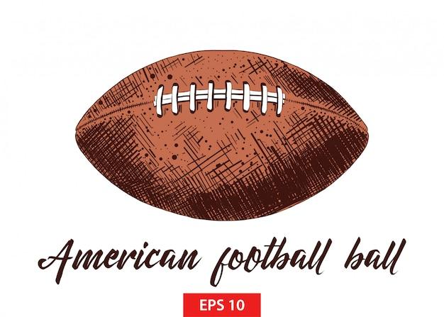 Hand getrokken schets van amerikaans voetbal bal Premium Vector