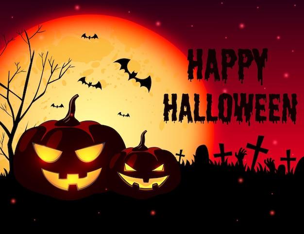 Hand getrokken stijl halloween achtergrond Gratis Vector