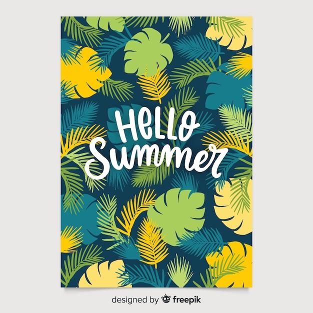 Hand getrokken stijl seizoensgebonden poster collectie Gratis Vector