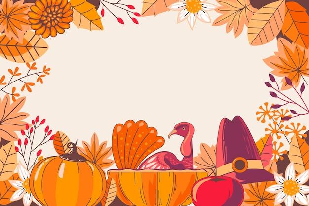 Hand getrokken thanksgiving achtergrond Premium Vector