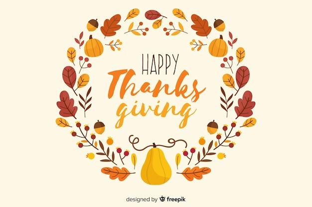Hand getrokken thanksgiving verlaat achtergrond Gratis Vector