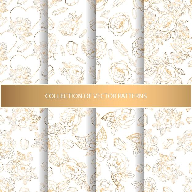 Hand getrokken verzameling patronen Premium Vector
