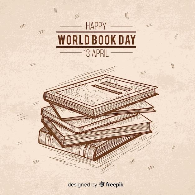 Hand getrokken wereld dagboekachtergrond Gratis Vector