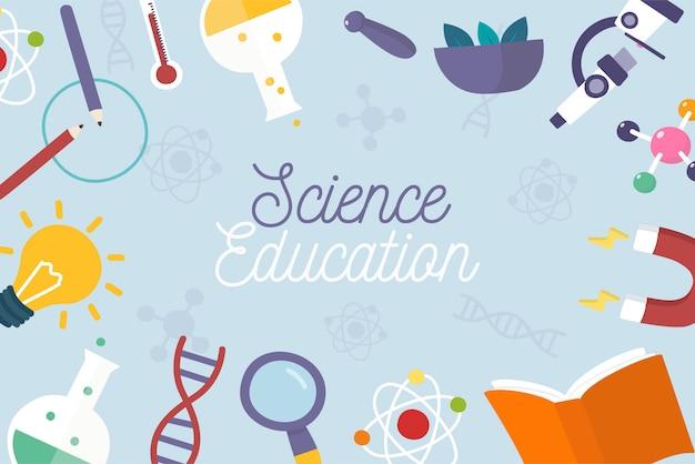 Hand getrokken wetenschappelijk onderwijs achtergrond Premium Vector