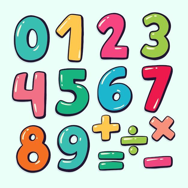 Hand getrokken wiskundige symbolen Gratis Vector