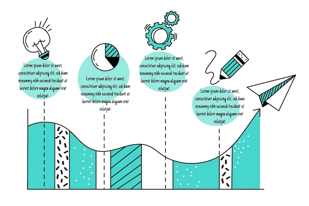 Hand getrokken zakelijke infographics Gratis Vector