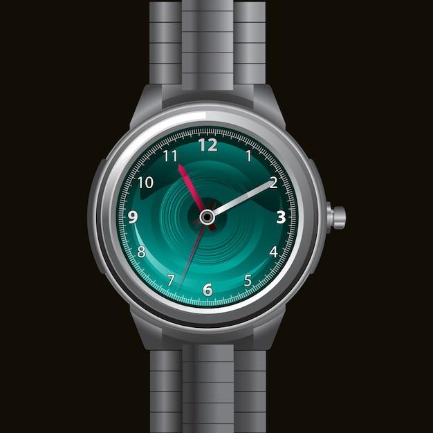 Hand horloge illustratie Premium Vector