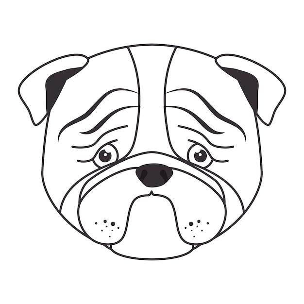 hand tekenen triest gezicht hond | vector | premium download