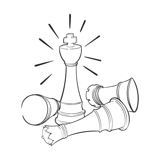 Hand tekening illustratie van leiderschap concept Gratis Vector