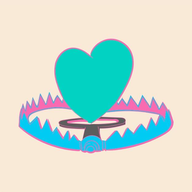 Hand tekening illustratie van liefde concept Gratis Vector